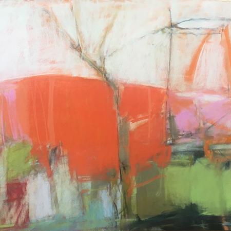 """Orange Hill"" Pastel on Paper by Jeannette Hayes"