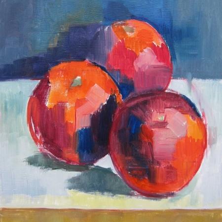"""Blood Oranges"" Oil on Wood by Eve Pettitt"""