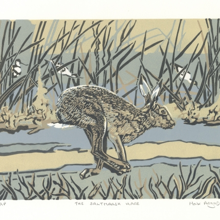 The Saltmarsh Hare by Max Angus SWLA Art Click and Buy Collection