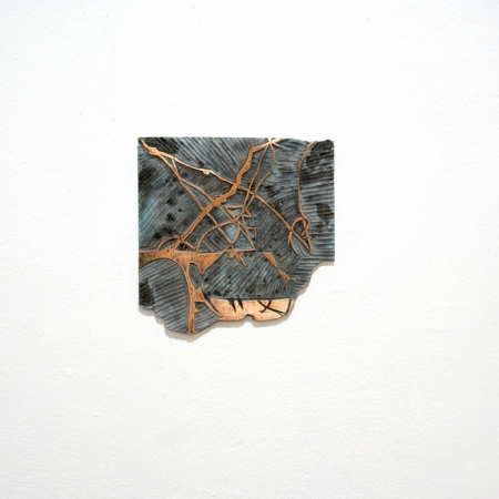 """Topographics Variation V"" Electroformed Copper by Kristina Chan"