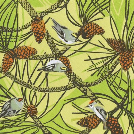 """Woodcock Pilots"" Linocut Print by Max Angus"