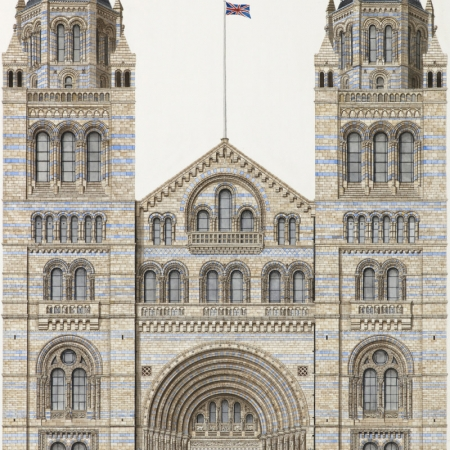 """Entrance, Natural History Museum"" Watercolour by Varsha Bhatia"