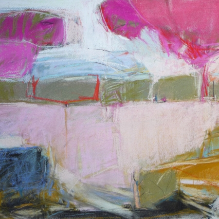 """Rolling Hills"" Pastel by Jeannette Hayes"