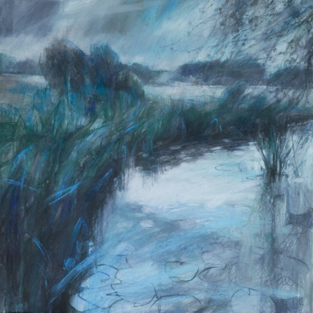 """Waterlilies"" Pastel with acrylic on mountboard by Sarah Bee"