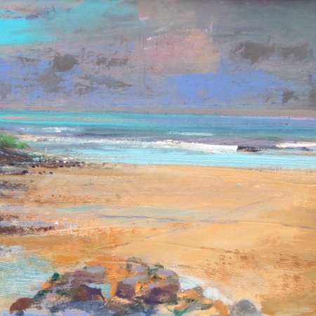 """Raincloud, Clogy, St. Ives"" Oil and Acrylic on Board by Paul Curtis"