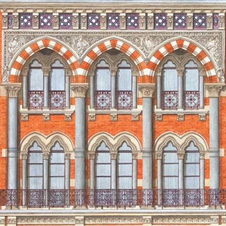 'St Pancras Window Detail' by Varsha Bathia