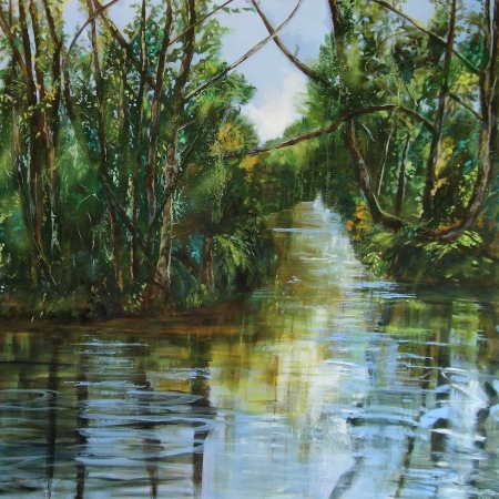'River through the Enchanted Wood' by Annie Boisseau