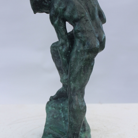 """Working Man"" Bronze Sculpture by Callum Stannard"