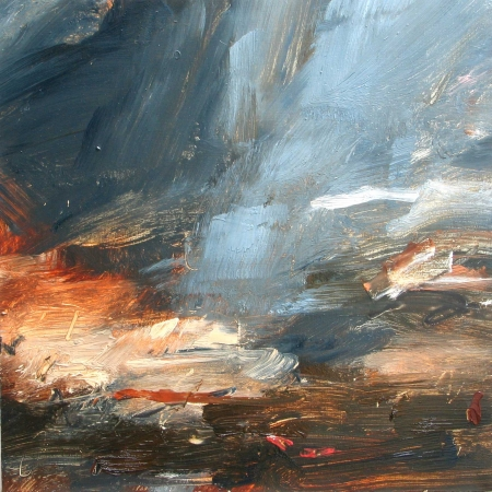 Cloud Sweep, Pale Blue by Louise Balaam NEAC
