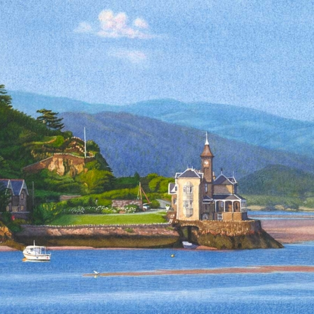 """Evening, Mawddach Estuary"" Watercolour by Margaret Heath"