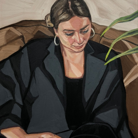 'Girl with Plant' by Ania Hobson
