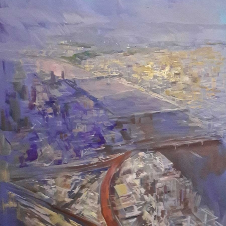 """Sky View with St James"" Oil on Linen by Philip James"