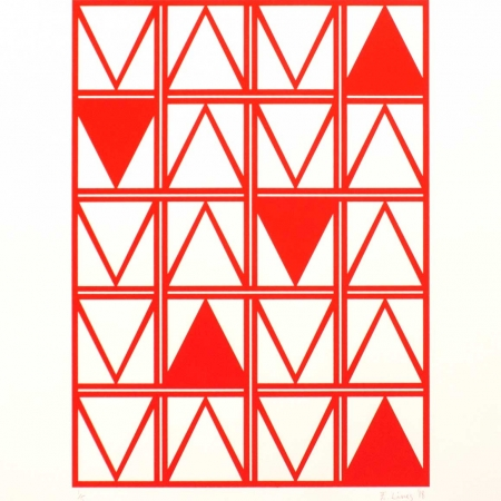 """Kypseli Triangles"" Screenprint by Eleanor Lines"