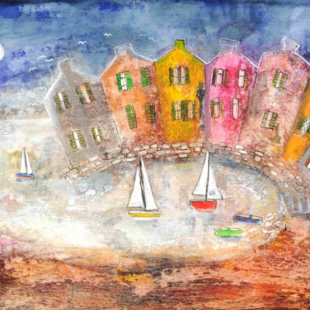 """Little Harbour"" Mixed Media by Rosa Sepple"