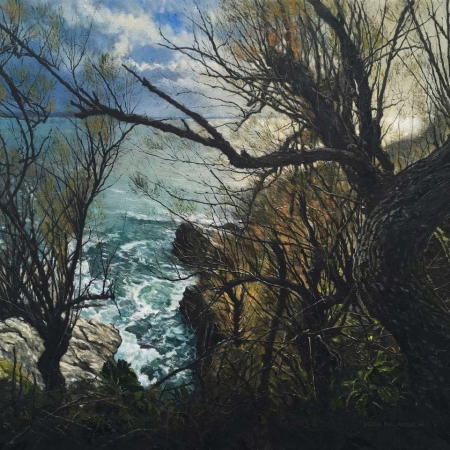 """Prussia Cove, Cornwall"" Oil on Canvas by Mark McLaughlin"