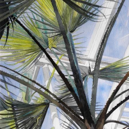 """Mid-day at Kew"" Watercolour by Diana Sheldon"