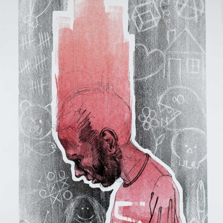 """""""Daily Doubts"""" Lithography on Paper by Siguel"""