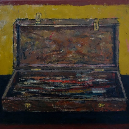 """Paintbrush Box"" Oil on Canvas by Bernadett Timko"