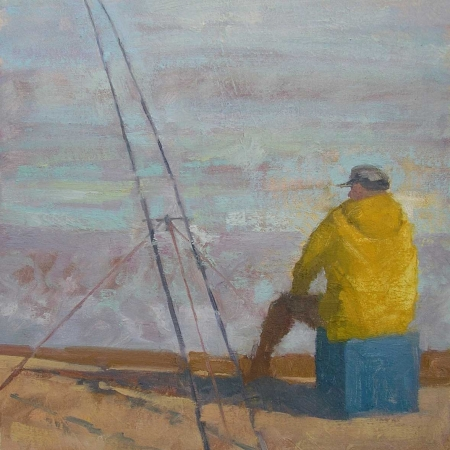 """Fishing, Late Afternoon"" Oil on Canvas by Delia Tournay-Godfrey"
