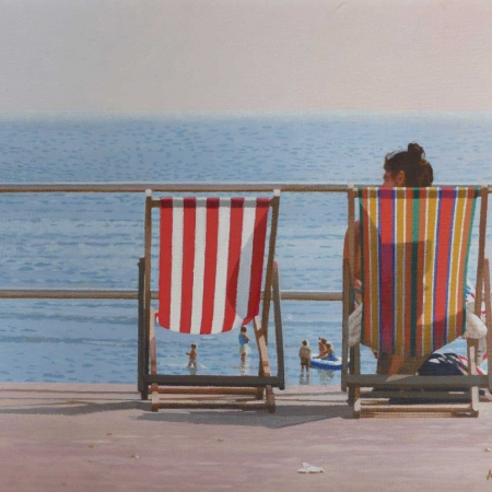 """""""Empty Chair"""" Acrylic on Canvas by Andy Wood"""