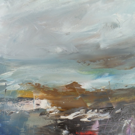 'Space & Water' oil painting by Lesley Birch