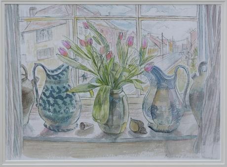 Bawden-Richard-Tulips-with-Jugs-watercolour.jpg