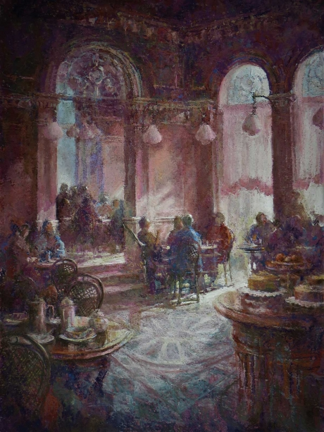 Arnold-June-Cafe-in-the-Piazza-Pastel.jpg
