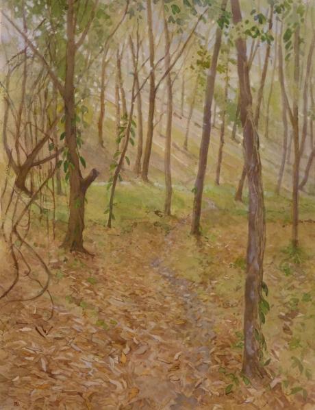 Banning-Paul-Sunlight-through-the-mahogany-trees-Trinidad--x--inches-.jpg