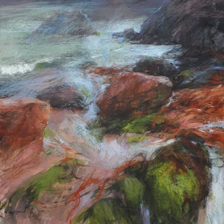Bee-Sarah-Seaweed-at-Soar-Mill-Cove-xs-pastel-and-acrylic-Low.jpg