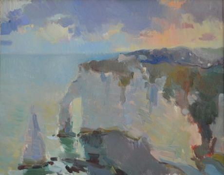 Hawkins-Julia-Cliffs-and-Waters-Porte-d'Aval-at-Sunrise..jpg