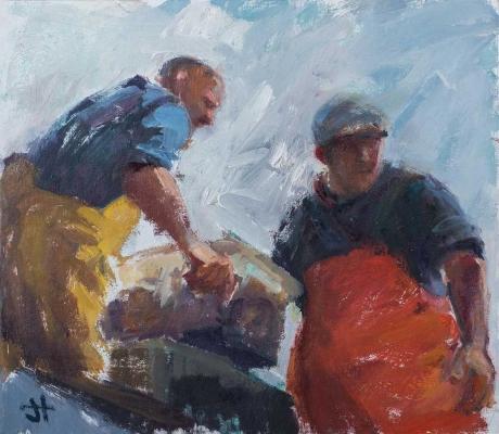 Hodgson-Jane-Shaun-and-Charles-Unloading-the-Boat.jpg