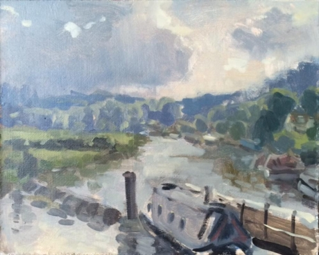 Rose-Maria-Canal at Saltford, Storm Coming in.jpg