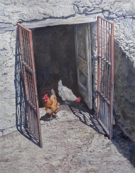 Hood-Philip-Two french hens.jpg