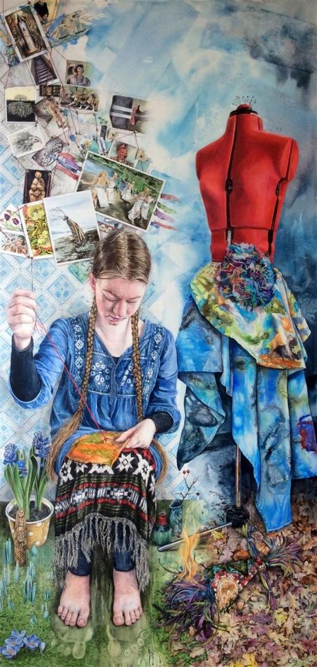 Claire Sparkes Watercolour Artist Stribog's Seamstress
