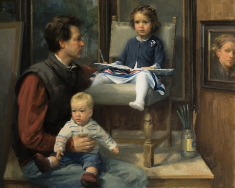 Bell-Frances-Rob, Flora and Hugh in the Studio.jpg