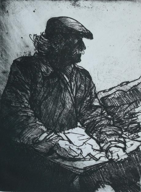 Carpanini-David-Kyffin-A windy day in Nant Peris-soft ground etching.jpg