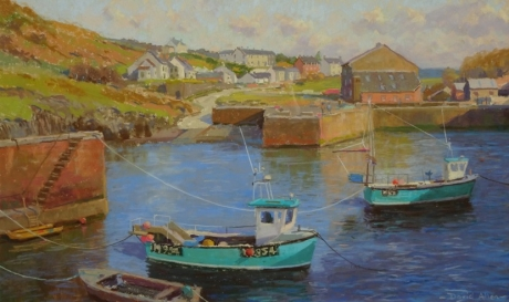 'Early Spring,Porthgain' pastel work by David Allen