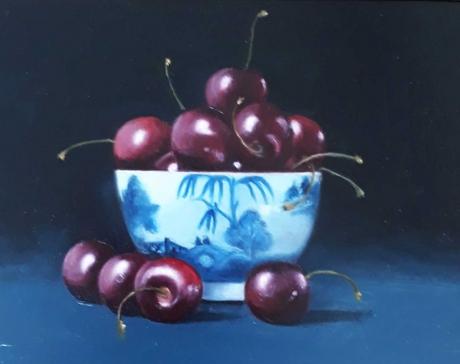 Taber-Jacqueline-Cherries-in-Blue-&-White-Bowl.jpg