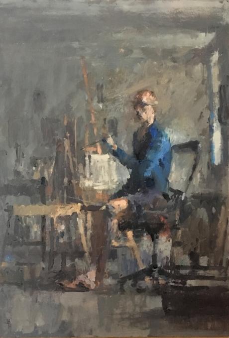 """Studio Study"" Oil on Panel by Benjamin Hope"