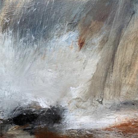 """Seaspray"" Oil and Gesso on Canvas by Rachel Arif"