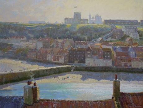 """Whitby, Contra Jour"" Pastel on sanded paper by David Allen"