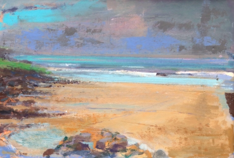 """""""Raincloud, Clogy, St. Ives"""" Oil and Acrylic on Board by Paul Curtis"""