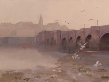 """""""Berwick Old Bridge"""" Oil on Board by Frances Bell"""