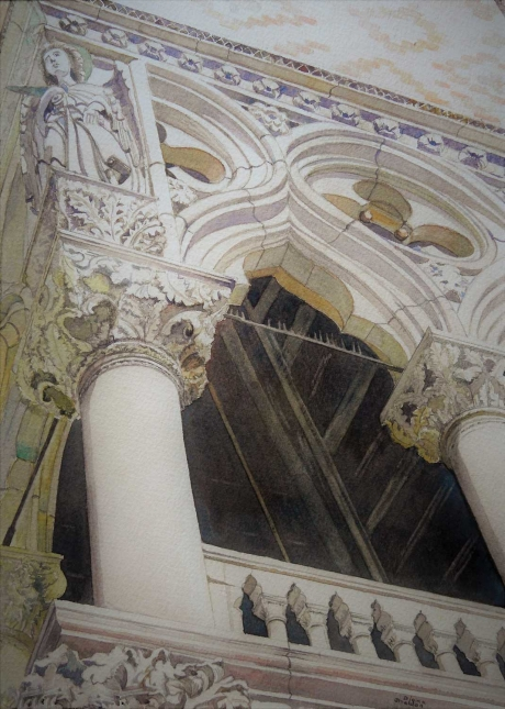 'Palazzo Ducale, Venice' watercolour painting by Diana Sheldon