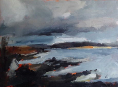 'Broadford, Isle of Skye' oil painting by Rebecca Hathaway