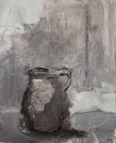 """""""Jug"""" Mixed Media on Canvas by Lucie Geffré"""