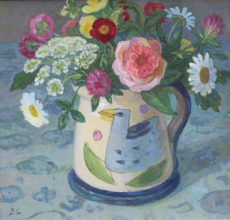 'Summer Flowers in the Bird Jug' by Diana Calvert