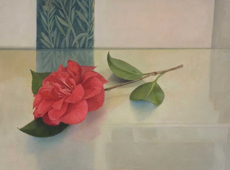 'Camellia and Pompeian Fragment' oil painting by Susan Angharad Williams