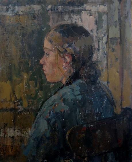 """Tessa"" Oil on Linen by Bernadett Timko"