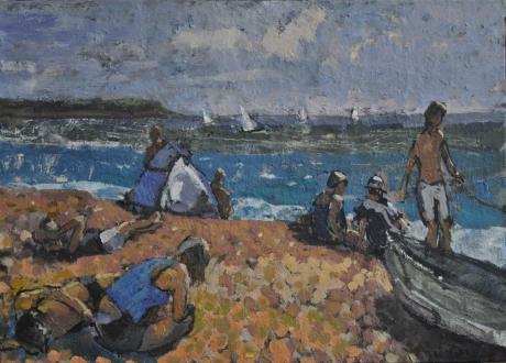 'Start Bay' oil painting by Anthony Yates RBA